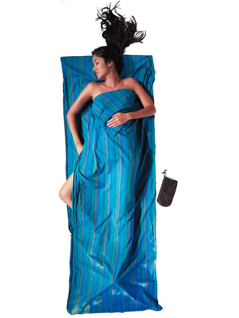Cocoon - Drap sac de couchage Coupler coton - bleu